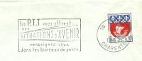 Cover Flamme Meter Charente Situations D'avenir Bureaux De Poste 1967 - Post