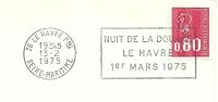 Cover Flamme Meter LLe Havre Nuit De La DOUANe Le Havre 1er Mars 1975 - Transportmiddelen