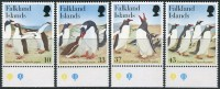Falkland Isl. 2001. Michel #826/29 MNH/Luxe. Birds. (TS17) - Penguins