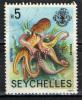 SEYCHELLES - 1990 - OCTOPUS - USATO - Seychelles (1976-...)