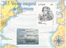 """Saint Pierre And Miquelon, Inaugural Journey Of The Ship """"Hermione"""", 2015, MNH VF - Nuovi"""