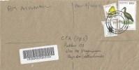 Kenya 2005 Bungoma Fisheagle 5/- Ibis 100/- Papaya Barcoded Registered Cover - Kenia (1963-...)