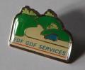 EDF GDF Services Camionnette Bleue Route Colline - EDF GDF