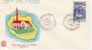 Cilaos Réunion 1960 - FDC Eglise 50 FCFA - Réunion (1852-1975)