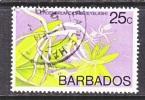 BARBADOS  405   (o)    Wmk.  Up   FLOWER - Barbados (1966-...)