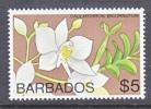 BARBADOS  410   **    Wmk.  Sideways   FLOWER - Barbados (1966-...)