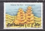 BARBADOS  645 B   (o)   Wmk. 384  UNDERWATER  CHRISTMAS  TREE  WORM - Barbados (1966-...)