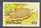 BARBADOS  650 D   (o)   Wmk. 384  SEA LIFE  FLAMINGO  TONGUE  SNAIL - Barbados (1966-...)