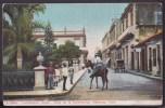 POS-88 CUBA 1908 MATANZAS CONSTITUTION STREET  TO US. CALLE DE LA CONSTITUCION. - Postcards
