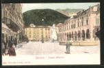 Cartolina Carrara, Piazza Alberico Mit Passanten - Carrara
