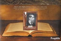 Gibraltar Bloc 107 (complète.Edition.) Neuf Avec Gomme Originale 2012 Charles Dickens - Gibraltar