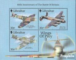 Gibraltar Block43 (complète.Edition.) Neuf Avec Gomme Originale 2000 Kampffugzeuge - Gibilterra