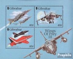 Gibraltar Block46 (complète.Edition.) Neuf Avec Gomme Originale 2001 Avions De Combat - Gibraltar
