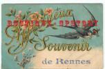 35 - RENNES < RARE  SOUVENIR - CARTE SIGNE ERNEST GUILLEROT (Voir Description)- OISEAU HIRONDELLE - Rennes