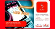 ITALIA - Scheda - Ricarica Telefonica WIND - Usata - Wind 6 SMS - 5 - Vedi Scansioni - Schede GSM, Prepagate & Ricariche