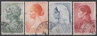 Suriname - Weldadigheidszegels - Creoolse/Javaanse/Hindoestaanse/Indiaanse - Gebruikt/gebraucht/used - NVPH 190-193 - Suriname ... - 1975