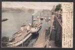 P0261 - Czechoslovakia (1902) Praha: Greetings From Prague - Port Steamboats With Palacky Bridge - Czech Republic