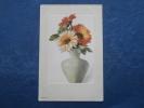 Fleurs  Zinnias Dans Un Vase - Carte Cuvette Toilée - Série 463 - Précurseur - L222 - Flowers