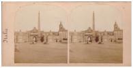 PHOTO Rome Place Et Porte Du Peuple (VERS 1880) (PPP591B) - Places