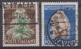 Italie 1950  Mi.nr: 803-804 Europäische Tabakkonferenz, Rom  Oblitérés / Used / Gest. - 6. 1946-.. Republic