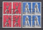 Europa Cept 1974 Belgium 2v Bl Of 4 Used 1st Day - Stamps With Full Gum (25122AB) - Europa-CEPT