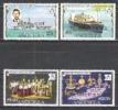 Anguilla 1977 Geschichte Persönlichkeiten Royals Königin Elisabeth Prinz Charles Schiffe Insignien, Mi. 286-9 ** - Anguilla (1968-...)