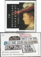 BRD (BR.Deutschland) 2550,2551 (completa.Problema.) Usato 2006 Rembrandt, Indicatore - [7] République Fédérale