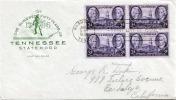 TENNESSEE USA 1946 - First Day Cover Mit 3 C Viererblock - Vereinigte Staaten