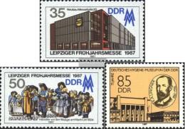DDR 3080-3081,3089 (completa Edizione) Usato 1987 Leipzig Spring Fair, Igiene - Usati