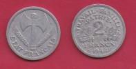 FRANCE, 1944, VF , Circulated 2 Franc Coin, Aluminium, KM 904.1, C2889 - France