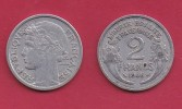 FRANCE, 1946, VF , Circulated 2 Franc Coin, Aluminium, KM 886a.2, C2891 - France