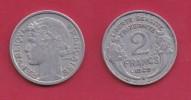 FRANCE, 1949, VF , Circulated 2 Franc Coin, Aluminium, KM 886a.2, C2894 - I. 2 Francs
