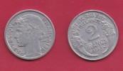 FRANCE, 1958, VF , Circulated 2 Franc Coin, Aluminium, KM 886a.1, C2895 - I. 2 Francs