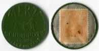 N93-0143 - Timbre-monnaie Merz - Capsule Verte 10 Pfennigs - Kapselgeld - Encased Stamp - Monedas/ De Necesidad