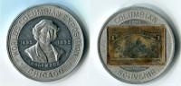 N93-0159 - Timbre-monnaie World's Columbian Exposition 1892 - 1 Cent - Kapselgeld - Encased Stamp - Monétaires/De Nécessité