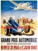 Reproduction D'une Photographie D'une Affiche Pour Le Grand Prix Automobile Meeting D'aviation De 1947 - Repro's