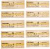 Czech Republic, 1980's, Lot Of 10 Public Transport Tickets - Autres