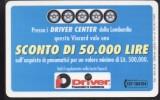 VIACARD - Driver Center   L. 50.000 Usata - Altri
