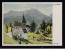 Künstler AK Rudi Krapf, Die Bergkapelle - Karte Gel.1942 - Andere Zeichner