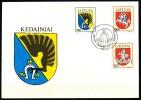 Litauen  - FDC  -  Mi.Nr.   505 - 507         Stadtwappen - Litauen