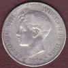 ESPAGNE .5 PESETAS 1896 S.G.V. . ALFONSO XIII. ARGENT - Premières Frappes