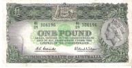 Australia - Pick 34 - 1 Pound 1961 - 1965 - VF - Emissioni Governative Pre-decimali 1913-1965
