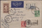 O) 1947 FRANCE, SCOUTS, SAINT NAZAIRE - MONUMENT, AIRMAIL FROM PARISTO ALBANY - USA, XF - Airmail