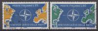 Italie 1959  Mi.nr: 1032-1033  10.Jahre Nordatlantikpakt NATO  Oblitérés / Used / Gest. - 6. 1946-.. Republic