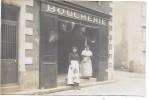 Devanture De MAGASIN - BOUCHERIE - CARTE PHOTO Non Située - Geschäfte
