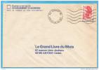"""MARCOPHILIE-lettre""""Grand Livre Du Mois"""" -cad-ANTONY-PAL -92-Cachet Muet  Affranchissement 2,10 Frs Liberté De Gandon - Marcophilie (Lettres)"""