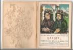 Publicité, Litho Ed. Bille, Schweizerische Alpenpost SAASTAL, Livre: 48 Pages, 20 Photos Et Carte Géographique - Publicités