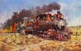 Transport - Virginia And Truckee Train Near Reno  - SC701 - Postcards