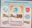 O) 1989 ROMANIA, CARRIAGES,  HORSE, SOUVENIR MNH - 1948-.... Republics