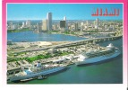Miami  The Cruise Capital Of The World. Over The Bridge Is Bayside And Downtown Shopping Area - Miami